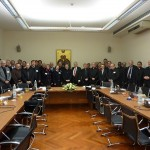 At the Pontifical Council for Promoting Christian Unity (Rome, Italy) with delegations from the Anglican, Lutheran, Methodist, and Reformed churches